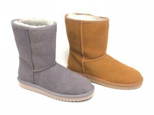 Koolaburra by UGG Women's Koola Short Chestnut Rabbit Boots Sheepskin 1017090