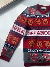 GUCCI Sine Amore Nihil Symbol Jacquard-Pullover L Sweater