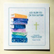 Baptism Card/Christian Adult Baptism Card with Bible Verse