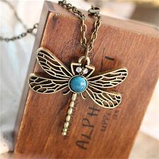 Fashion Dragonfly Rhinestone Crystal Enamel Chain Wing Pendant Necklace