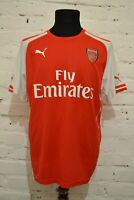 ARSENAL LONDON 2014/2015 HOME FOOTBALL SHIRT SOCCER JERSEY TRIKOT PUMA MENS L