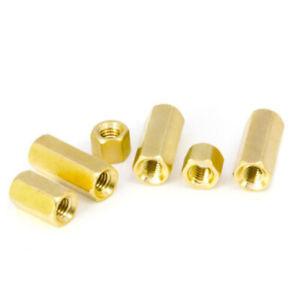 M7/Pitch 1mm Brass Hex Nut Hexagon Long Coupling Connector Stud Standoff丨S=10