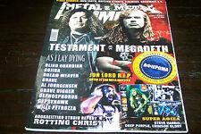 GREEK METAL HAMMER MAGAZINE 9/2012 TESTAMENT AS I LAY DYING JON LORD GOJIRA
