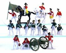 Napoleonic Toy Soldiers Russian Infantry 16 Piece Set w Cannon Horses 1/32