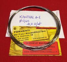 FILO A CALDO in KANTHAL A-1 da 0,40mm - 12,7 ohm/mt (5mt)