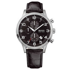 NEW HUGO BOSS HB 1512448 MENS AEROLINER WATCH - 2 YEAR WARRANTY