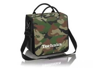 Technics Dj Record Bag Ruck Sack 50 vinyl LP Camouflage Green SL 1200 SL 1210