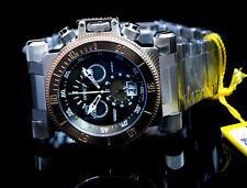 Invicta Men's Chronograph Coalition Forces Stone Distressed Gunmetal Black Dial