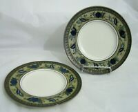"SET OF 2 MIKASA INTAGLIO ARABELLA CAC01 BREAD ROLL PLATES 6-1/2"" OVEN SAFE"