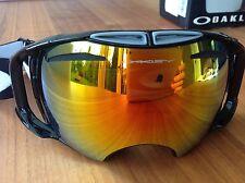 Oakley Airbrake Snow Jet Black / Fire Iridium & Persimmon Ski Goggle Skibrille