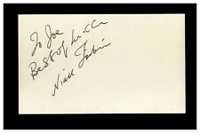 Naill Toibin - Actor Vintage Signed 3x5 Index Card