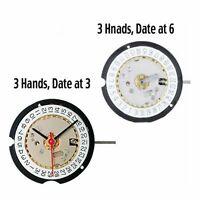 Suizo Ronda 585 3 Pines Movimiento de Cuarzo Reloj Accesorios Date At 3'/6'