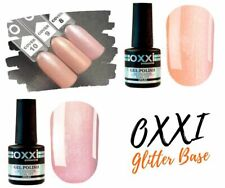 Camouflage Cover Base Coat by OXXI Glitter French Nude Nails Nail Art