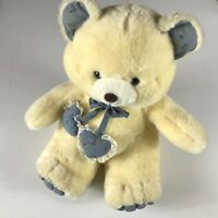"Dan Dee Plush Bear VTG Large 16"" Stuffed Teddy Flowers Floral Paws Ears Hearts"