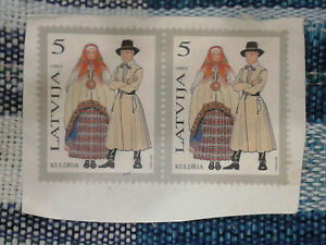 2 x Latvia Stamps - Both 5
