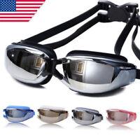 Swimming Goggles Glasses Water Pool Anti Fog Underwater Mask Adult Men Women EN