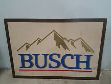 VINTAGE BUSCH BEER OFFICIAL Cork Board Beer Bar Man Cave Office 24X16