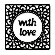 Sue Dix SWEET DIXIE MINI Dies WITH LOVE Cut Emboss Stencil SDD148 96mm x 96mm