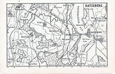 Ratzeburg Behlendorf 1904 orig. Wander-Karte + Reiseführer (11 S.) Dermin Lankau