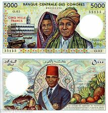COMOROS 5000 Francs Banknote World Money UNC Currency BILL p12a Africa Note 1984