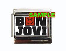 Bon Jovi Logo#1 Custom Italian Charm with Smirk sharp!