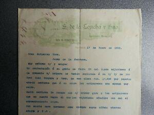 PACHUCA MÉXICO CARTA COMERCIAL AÑO 1902 ABARROTES LA CRUZ VERDE DE S. DE LA CONC