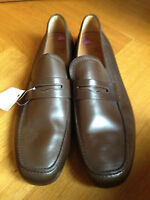 MORESCHI BRAUN BROWN LOAFERS MOKASSIN US 12 EUR 45/46 UK 11