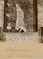 France, Paris, Polymnie au Musée du Louvre  Vintage citrate print.  Tirage cit