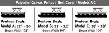 Wake Monsoon Premium Pontoon Boat Cover Fits 17-20 FT Gray