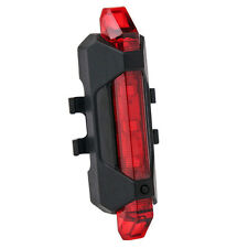 COB LED USB Rechargeable Bicycle/Bike Front Rear Light Flsah Lamp Red Taillight