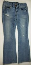 American eagle outfitters womens boot cut stretch blue jeans size 2