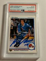 Guy Lafleur Autographed Signed 1990 Upper Deck Card #162 Nordiques PSA 44290226