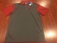 Nike Men's Arkansas Razorbacks Football Polo Jersey Shirt Medium M NCAA