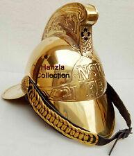Victorian Brass NSW FB Fireman Helmet Brass Nautical Fire Fighter Helmet