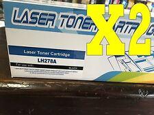 2PK Toner cartridge for HP LaserJet PRO 1560 P1566 P1606DN M1536DNF  CE278A 78A