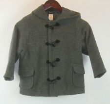 Gymboree Boys Size 4 Gray Hooded Toggle Coat Wool Blend