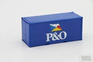"""Herpa 20´ Container blue """"P&O"""" /H13166"""
