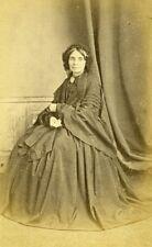 Woman Seated Paris Early Studio Photo Letalle Old CDV 1860
