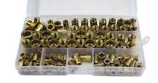 120 PC Nutserts Rivet Nuts Flange RIVNUTS Steel Nutsert M3 4 5 6 8 10