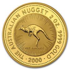 2000 Australia 2 oz Gold Nugget BU - SKU #69652