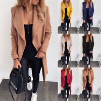 Women Fashion Casual Long Sleeve Cardigan Trench Coat Parka Jacket Outwear  oq