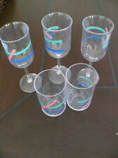 Retro Guzzini Champagne wine flutes and tumblers cups glasses picnic