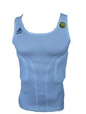 Adidas Techfit Padded Top Compression Shirt Basket Réservoir Blanc Taille XL