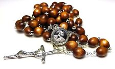 Brown 3rd class relic rosary Pier Giorgio Frassati patron Students Catholics WYD