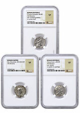 Random Roman Republic Silver Denarius - 3 Different Coins NGC VF SKU41933