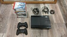 Sony PlayStation 3 PS3 Super Slim Console CECH-4001B 250GB 2 Controller 14 Games