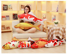 Funny gift realistic goldfish carp fish home bar decor plush pillow cushion toy