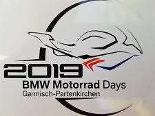 Aufkleber BMW Motorrad Days Garmisch 2019 GAP Bike R 1250 R GS 1000 RR Sticker D