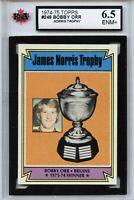 1974-75 Topps #248 Bobby Orr Norris Trophy ENM+ - Graded 6.5 (100519-96)