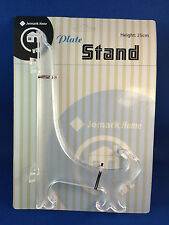 Plate stand clear extra large 25cm plate display stand easel style New